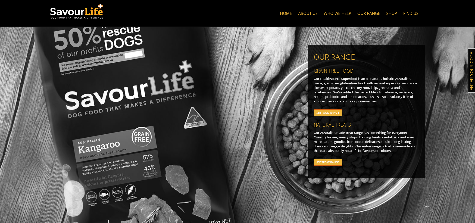 Savourlife Website Design